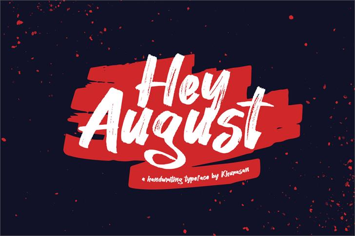 Hey August Font poster