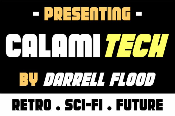 Calamitech Font screenshot poster
