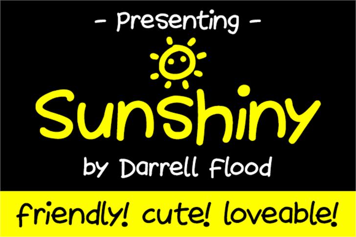 Sunshiny Font screenshot text