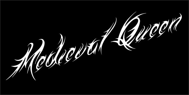 Medieval Queen Font design typography