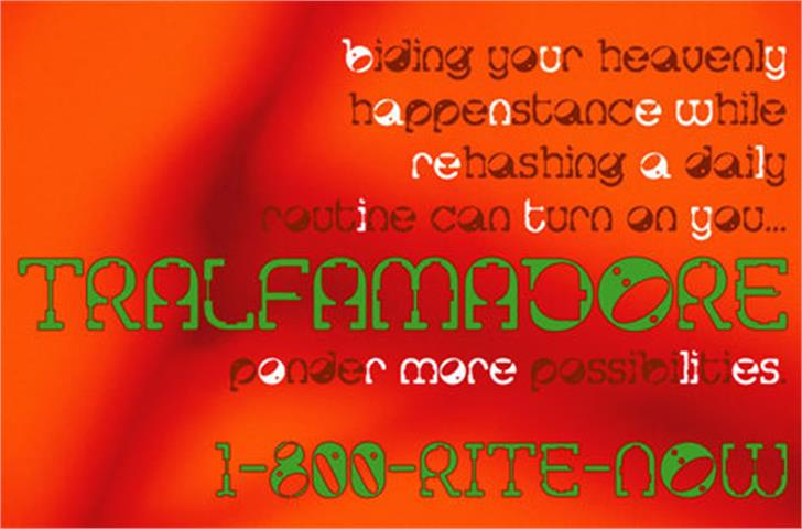 Tralfamadore font by Apostrophe