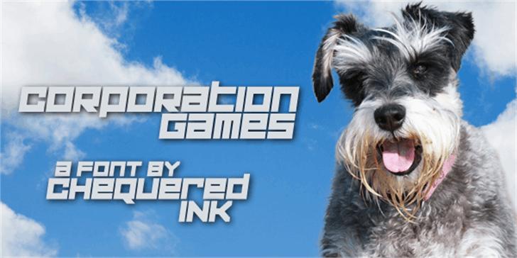 Corporation Games Font dog sky