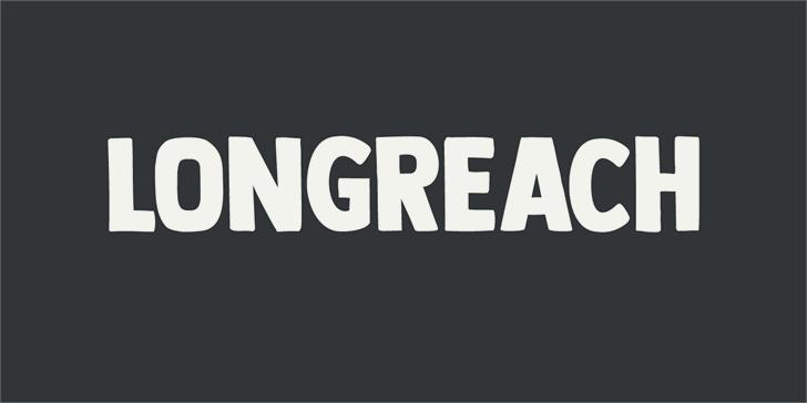DK Longreach Font design screenshot
