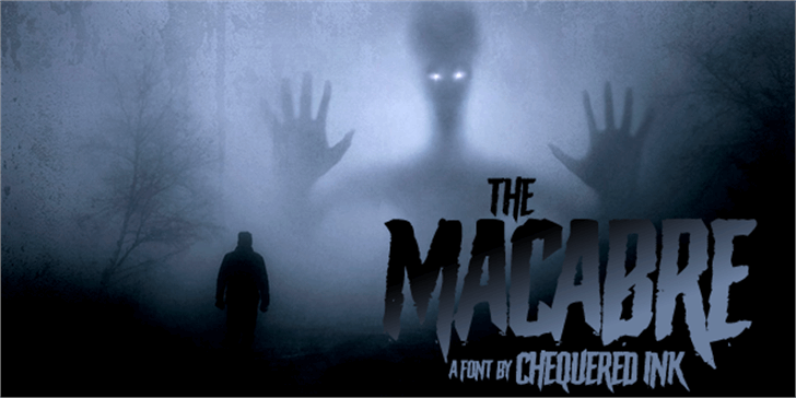 The Macabre Font fog dark
