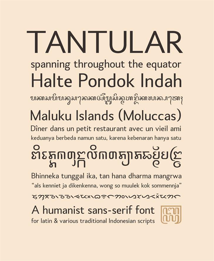 Tantular Bali Font text screenshot