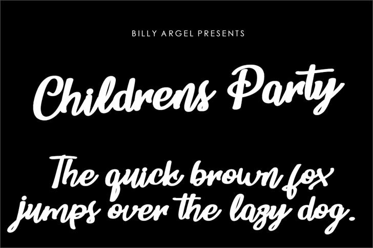Childrens Party Personal Use Font text design