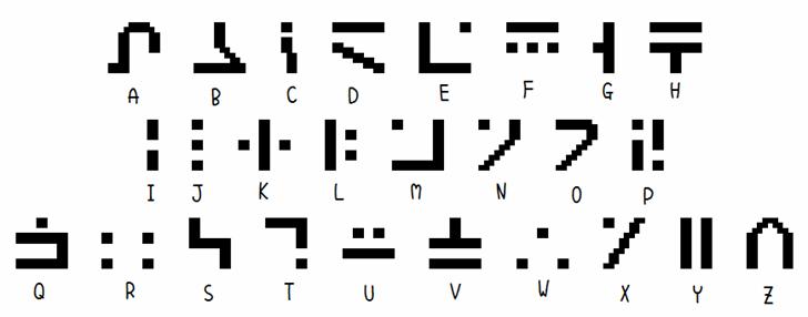 SGA Pixies Font design graphic