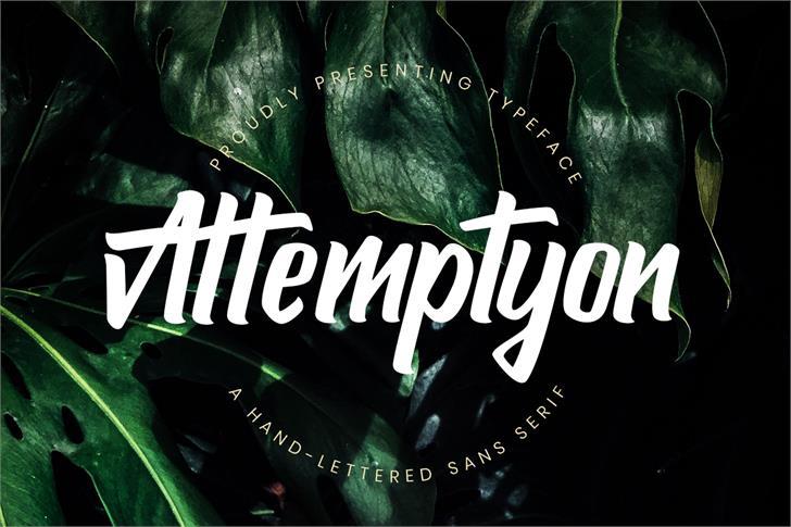 Attemptyon Font poster screenshot
