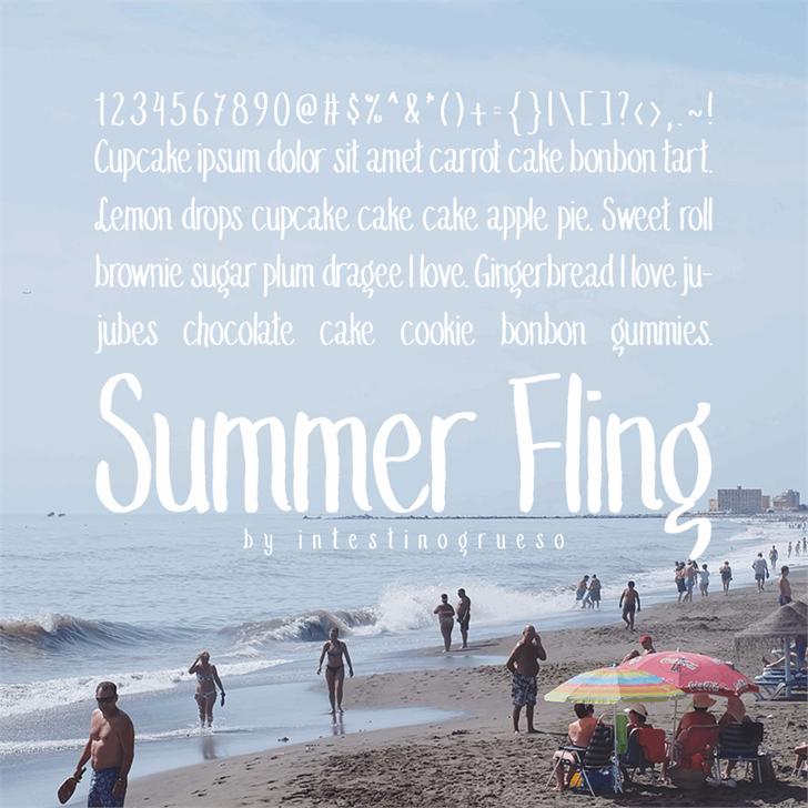 Summer Fling Medium Font outdoor beach