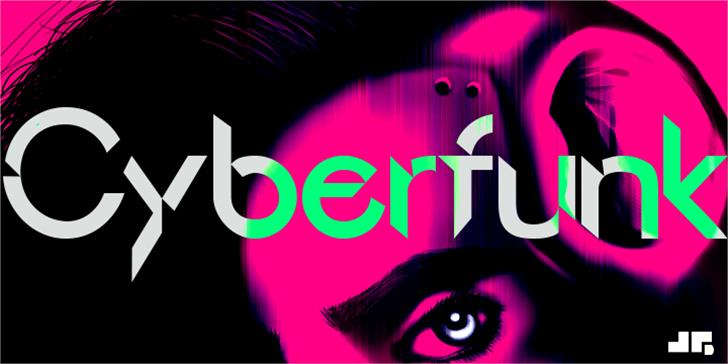 Cyberfunk Font cartoon creativity