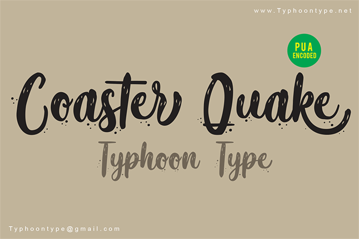 Coaster Quake - Personal Use Font text