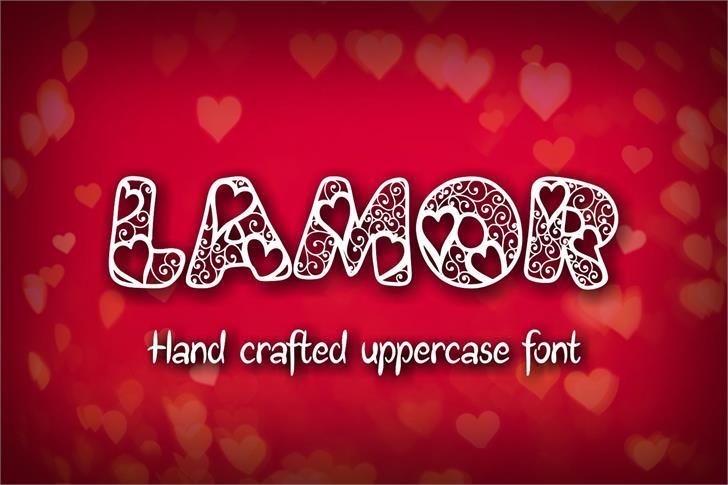 Lamor Demo Font design heart