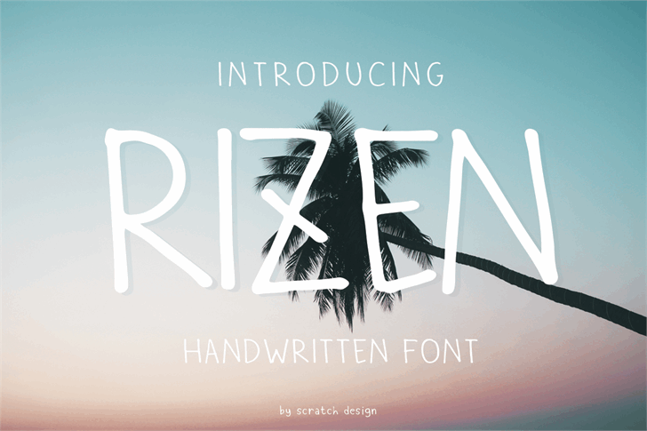 Rizen Font design screenshot