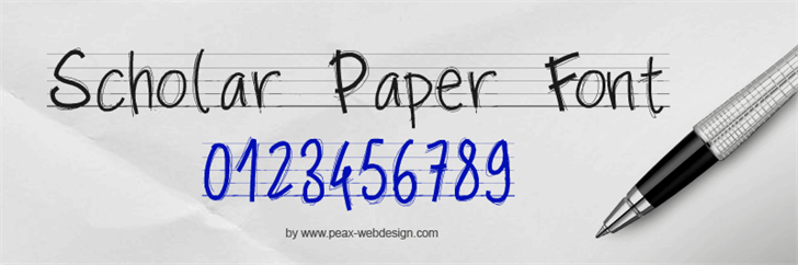 PWScolarpaper Font handwriting typography