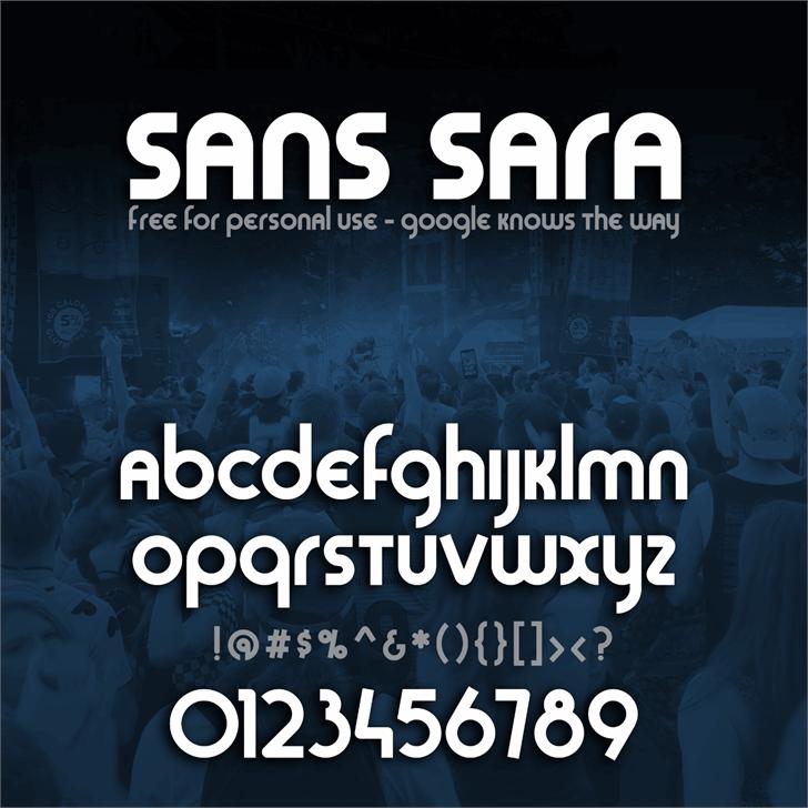 Sans Sara Font poster