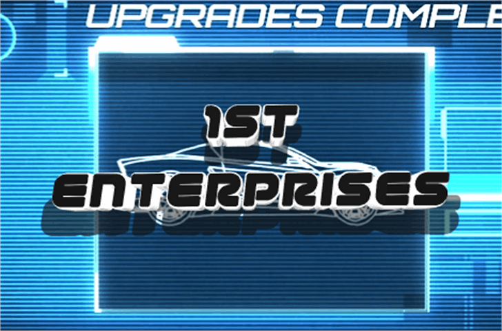1st Enterprises Font screenshot typography