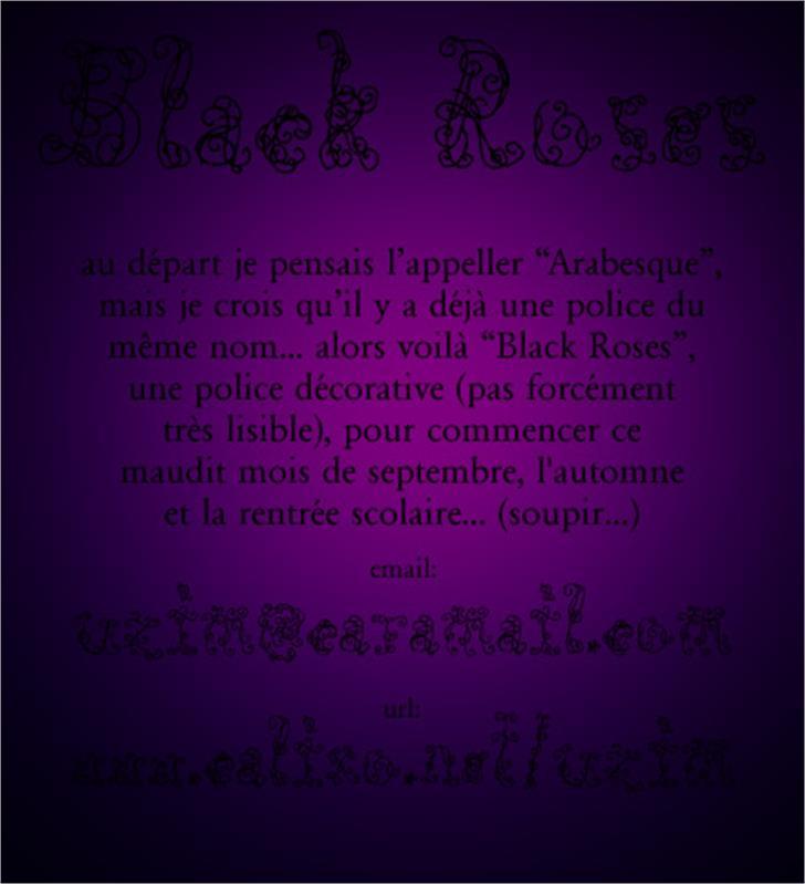 Black Roses font by Uzim