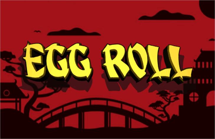 Egg Roll Font cartoon graphic