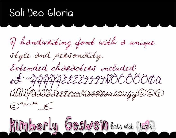 Soli Deo Gloria Font text handwriting