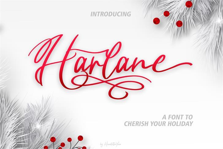 Harlane Font poster
