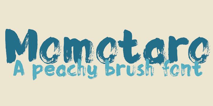 DK Momotaro Font design typography