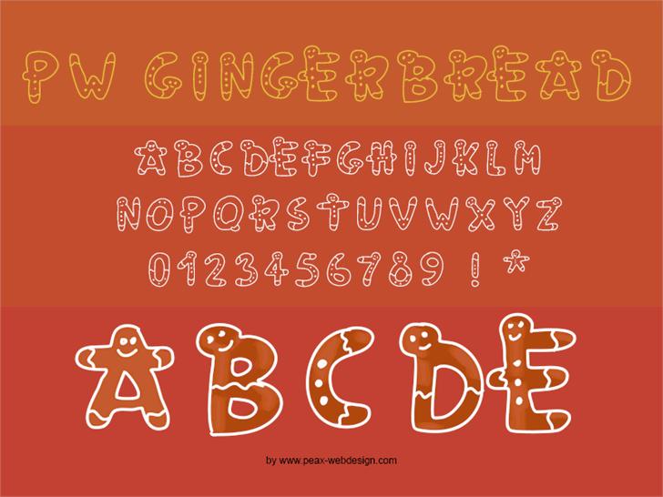 PWGingerbread Font text design