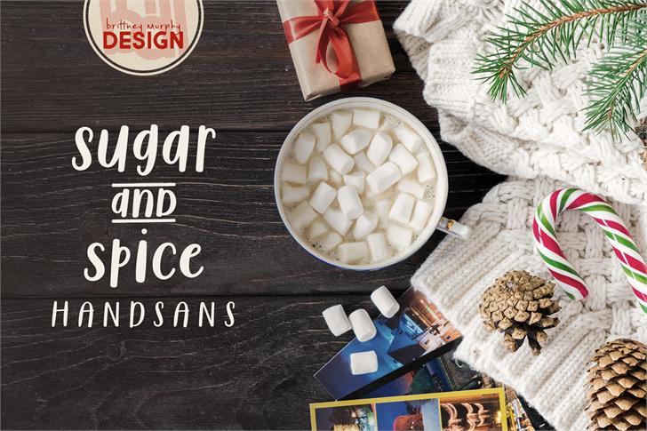 Sugar & Spice HandSans Font food tableware
