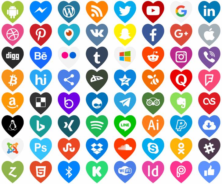 Icons Color Love font by elharrak