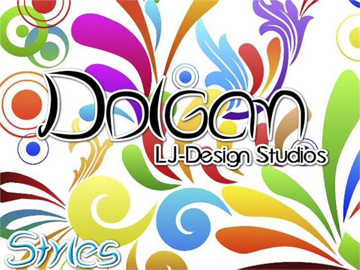 Dolgan - LJ-Design Studios Font design cartoon