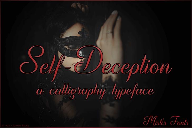 Self Deception Font poster