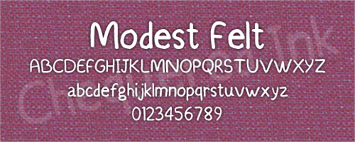 Modest Felt font by Chequered Ink