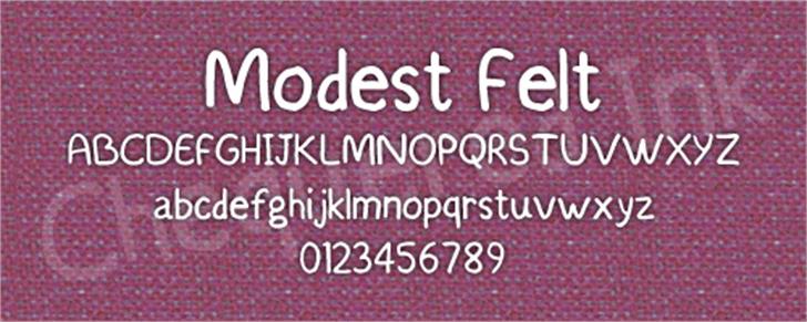 Modest Felt Font screenshot design
