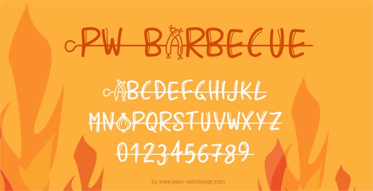 PWBarbecue font by Peax Webdesign