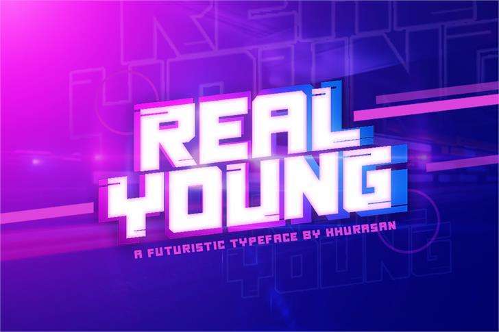 Real Young Font screenshot