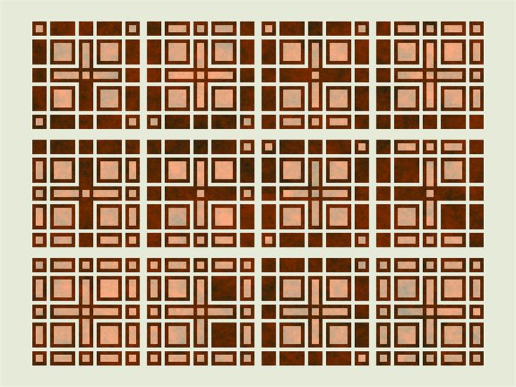Qualtron Font pattern design