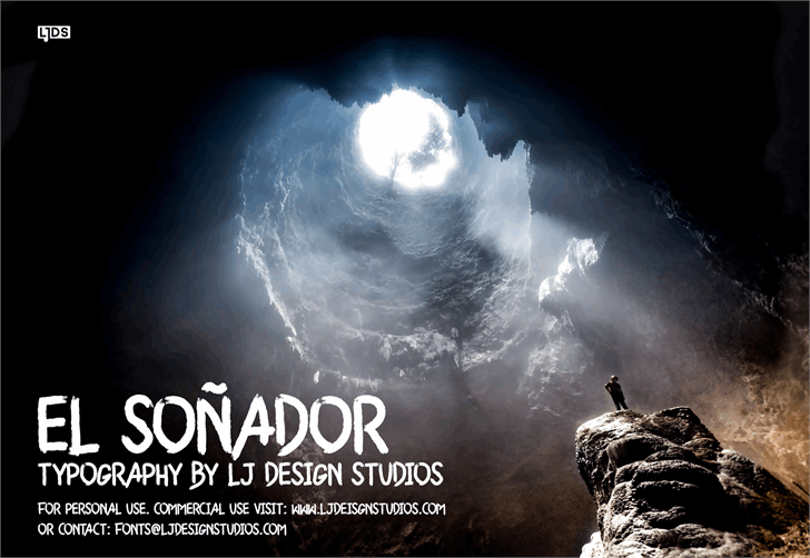 El Soñador Personal Use Font screenshot poster