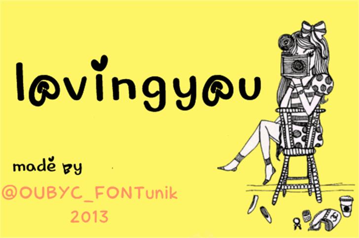 lovingyou font by OUBYC_FONTunik