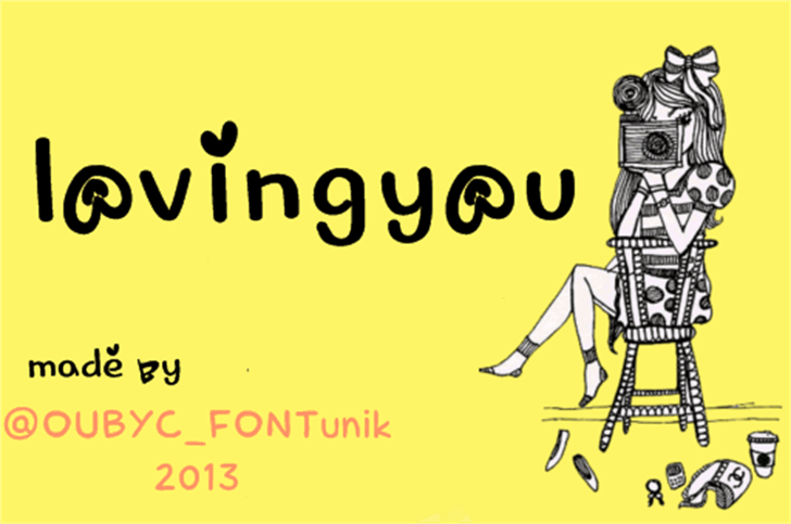 lovingyou Font cartoon graphic