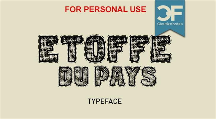 CF Etoffe du Pays PERSONAL Font typography cartoon