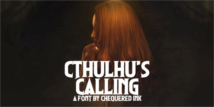 Cthulhu's Calling Font poster book