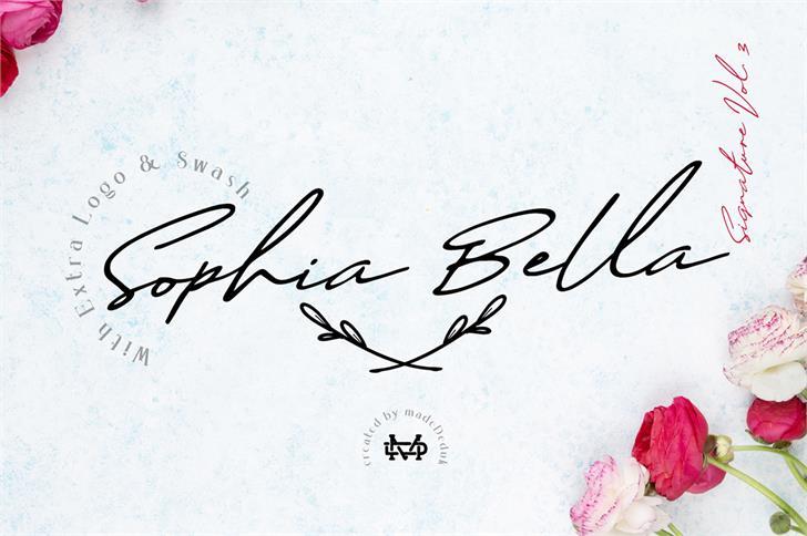 Sophia Bella DEMO Font handwriting