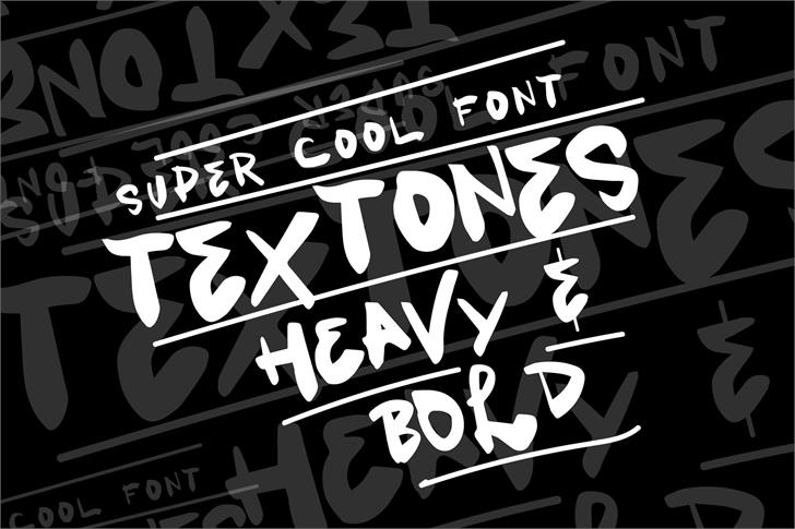 Vtks Textones Font poster typography