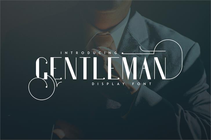 Gentleman font by vladfedotovv