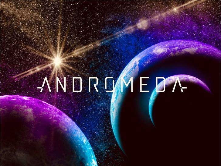 andromeda Font screenshot moon