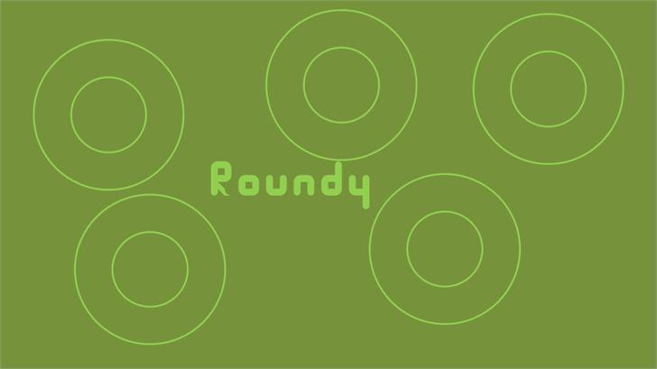 Roundy Font screenshot design