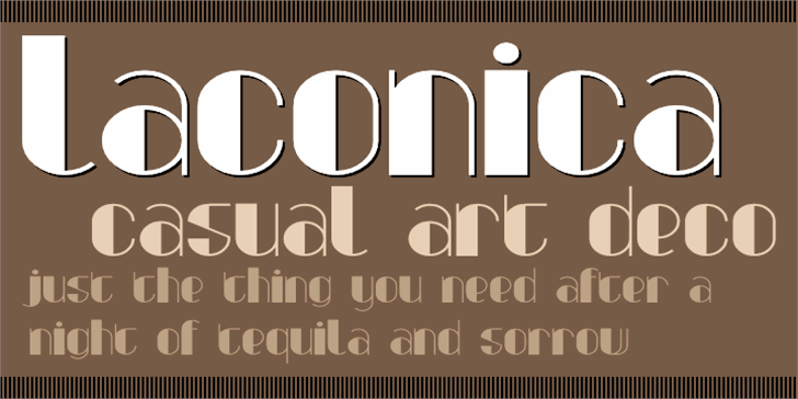 Laconica Font design typography