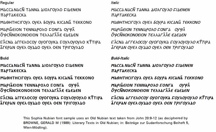 Sophia Nubian Font screenshot text