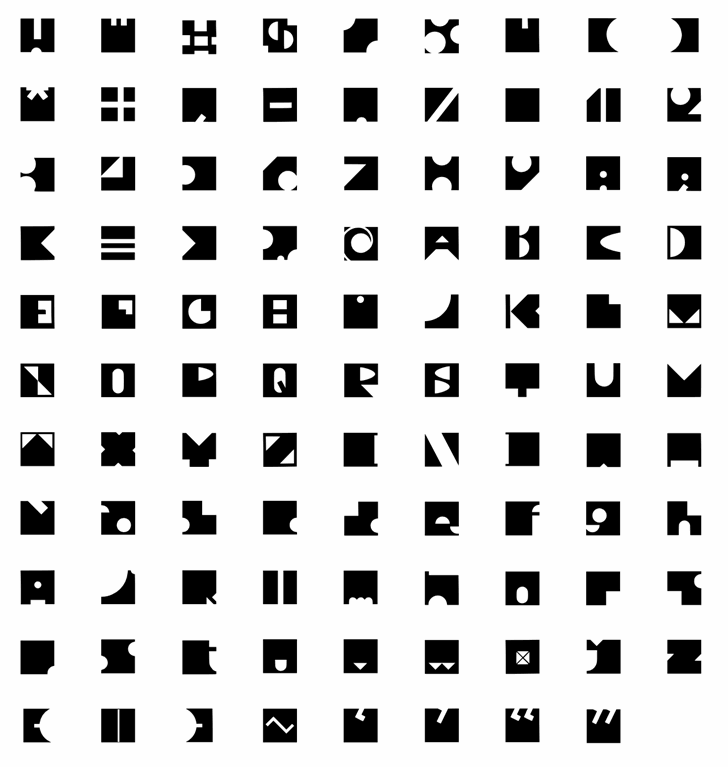 Redacted Font pattern colorfulness