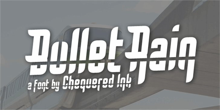 Bullet Rain Font design screenshot