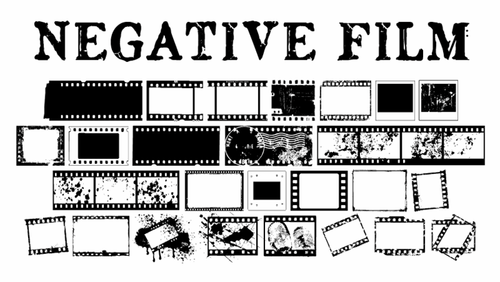 NegativeFilm Font text cartoon